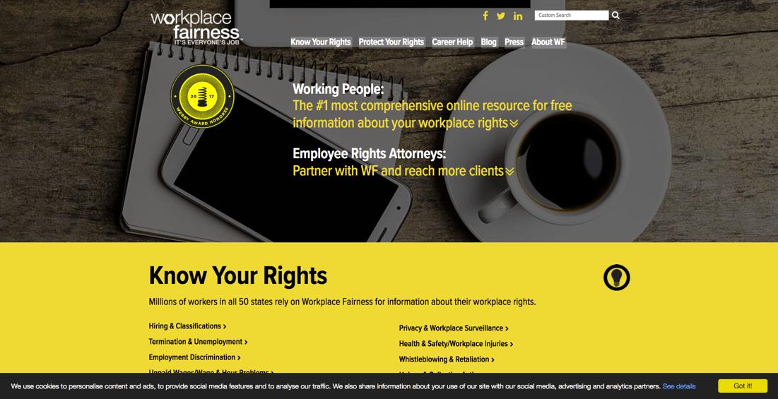 Workplace Fairness website