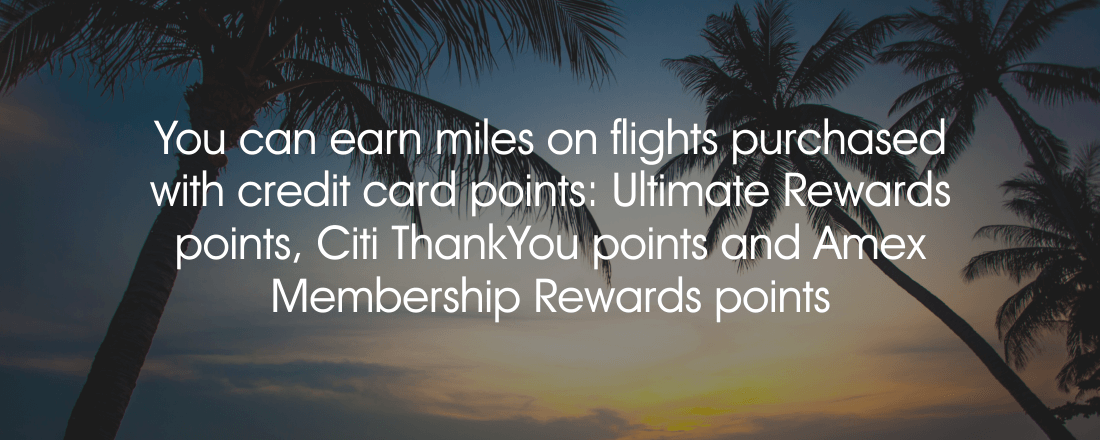 Earn miles with credit card points