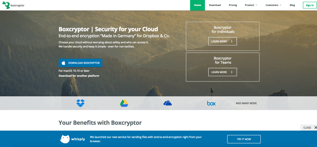 Boxcryptor handles security and keep it simple - even for non-techies