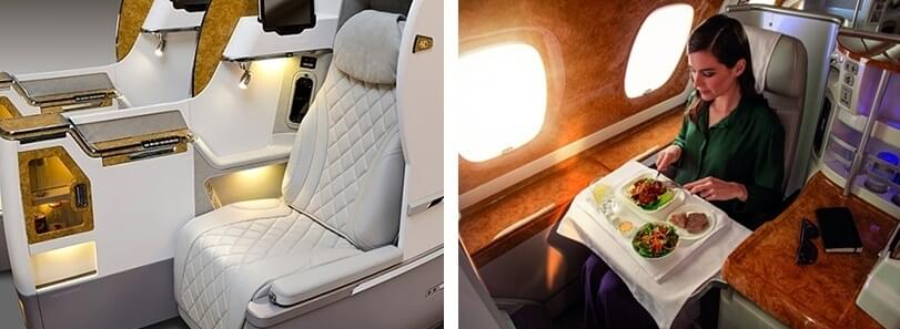 JFK to Milan in Emirates business class for 65,000 JAL Mileage Bank miles