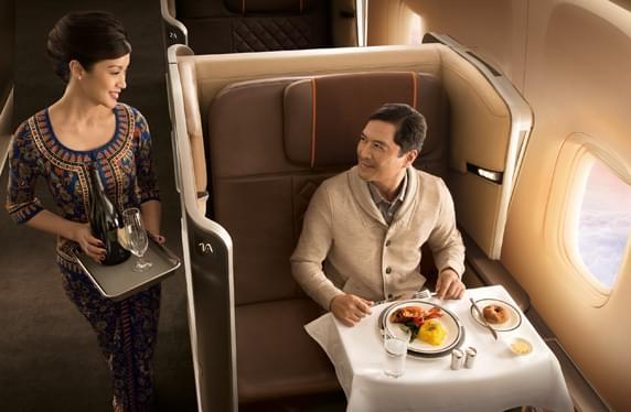 Travel to Singapore in Singapore Airlines First Class for 107,500 - 110,000 miles one way
