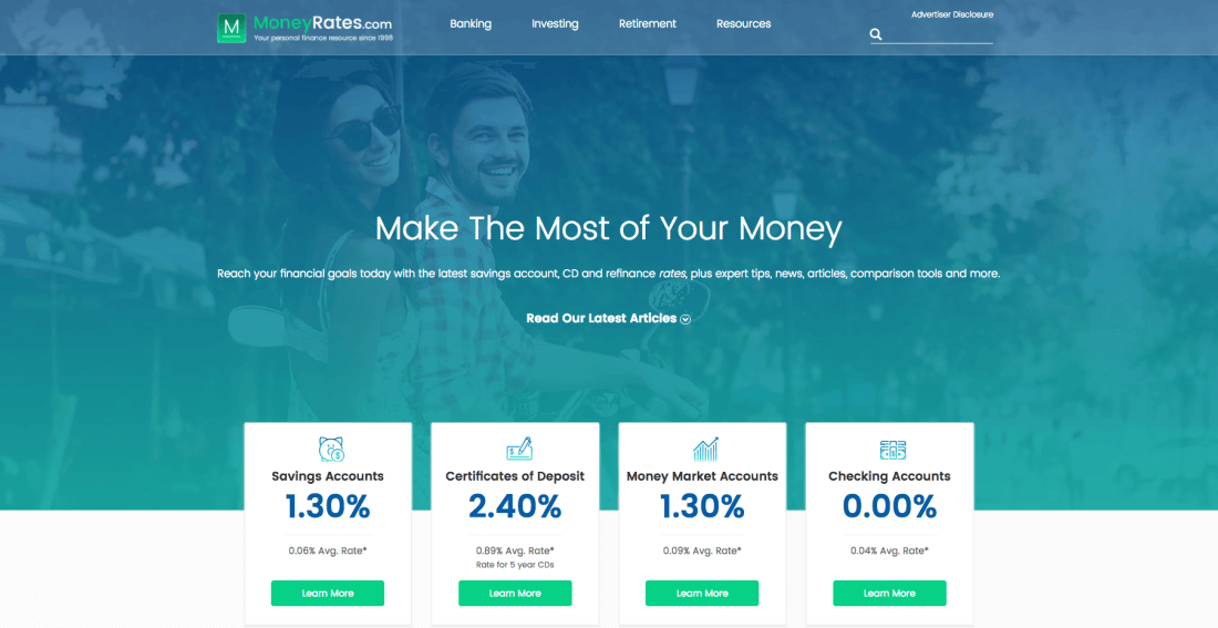 MoneyRates.com helps you make the most of your money and reach your financial goals