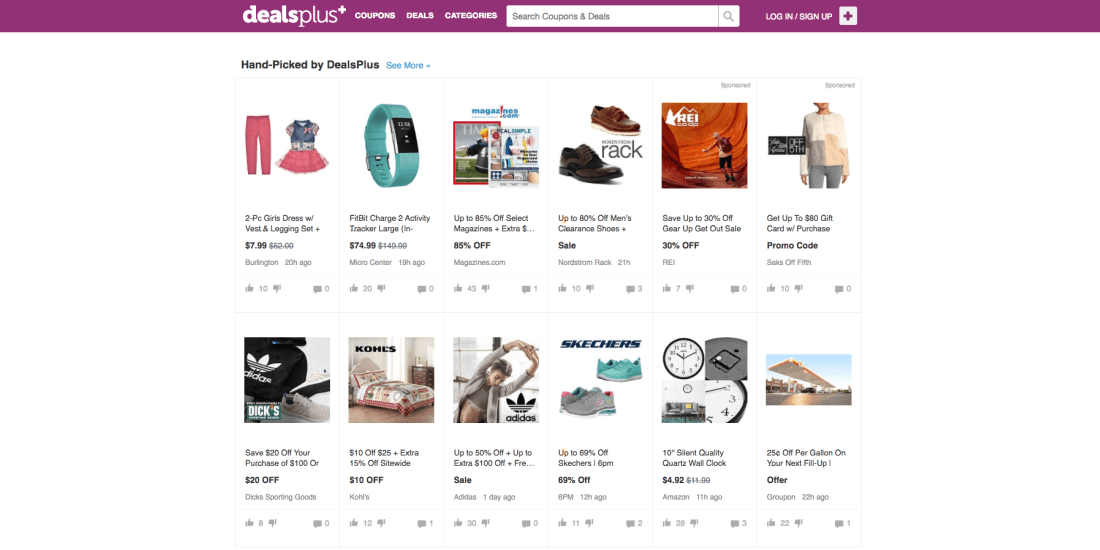Shop for everyday items and special gifts while saving money with DealsPlus
