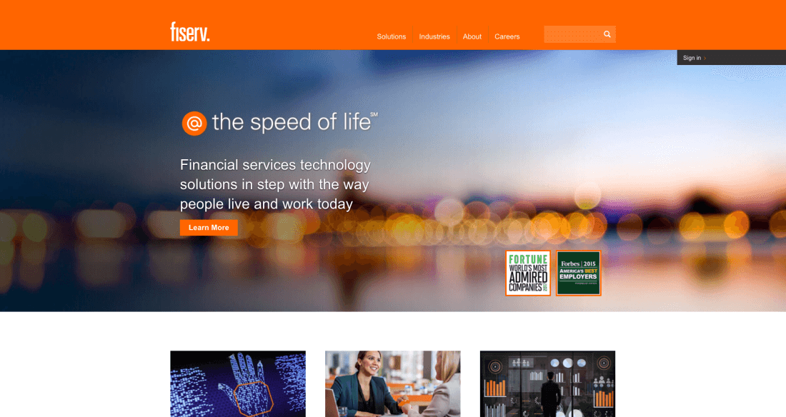 Fiserv helps its clients worldwide create and deliver experiences for a digital world