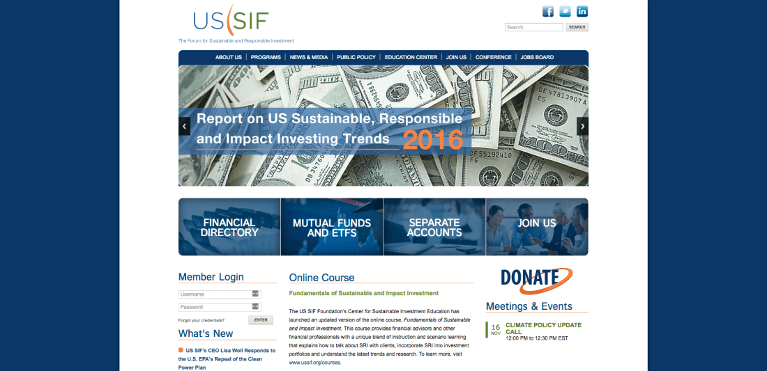 Help the world and your bank book with The Forum for Sustainable and Responsible Investment