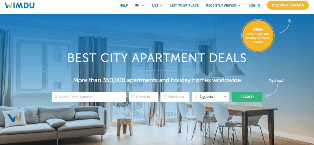 Wimdu is one of the world's leading online marketplaces for private accommodation
