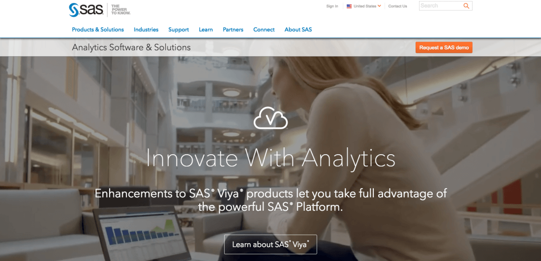 SAS is the leader in analytics