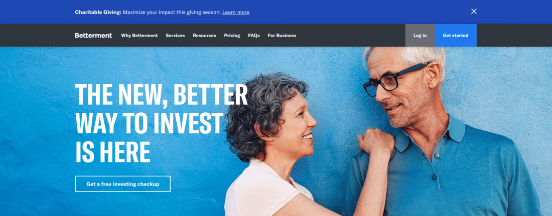 With Betterment's Charitable Giving program, investors can reap a two-part tax benefit from every donation of appreciated shares
