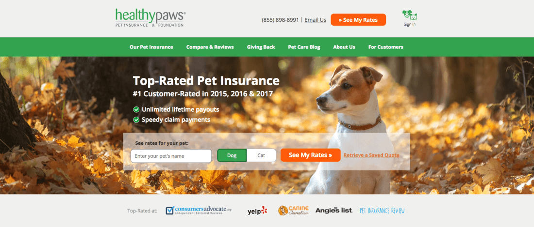With Healthy Paws Pet Insurance & Foundation, you can give your pet the best medical care possible