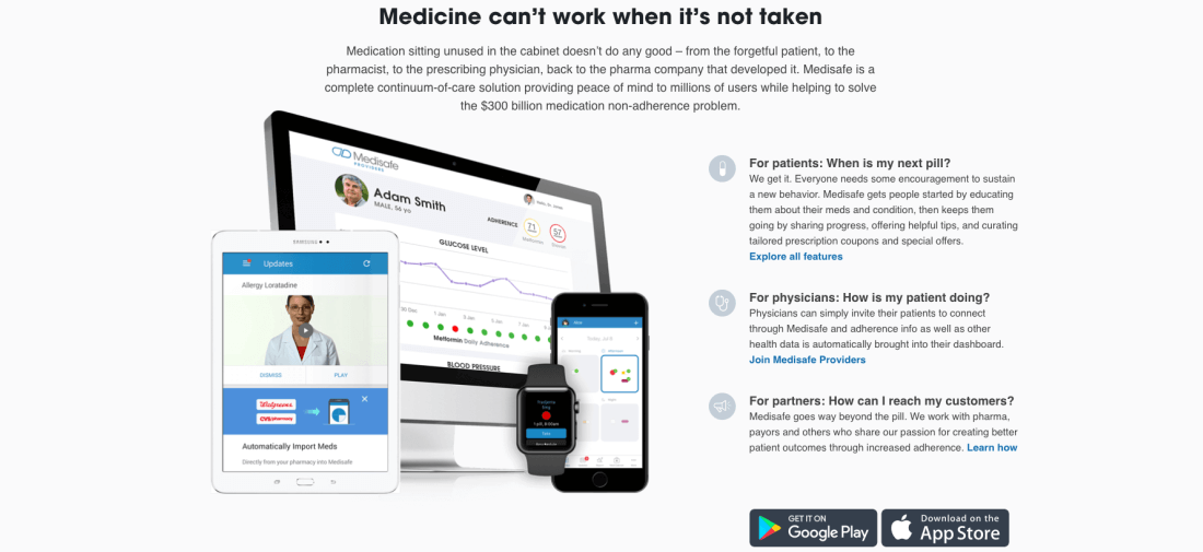Medisafe empowers people to take control of their health