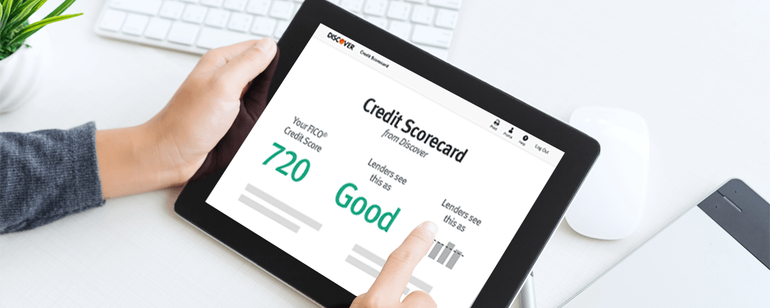 Tablet with Credit Scorecard