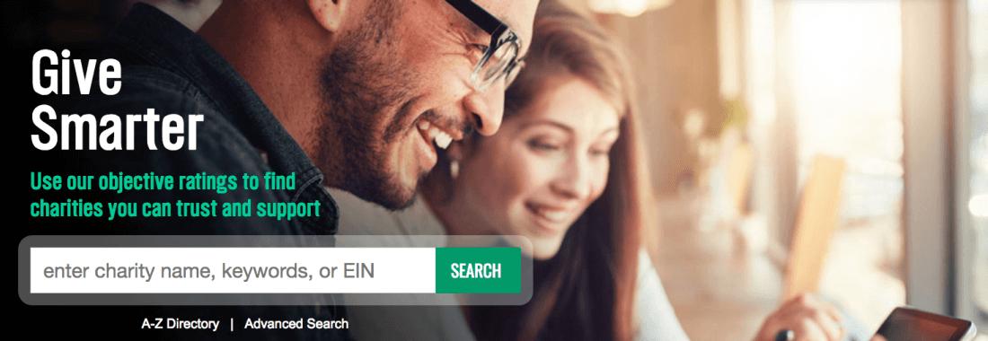 charitynavigator website screenshot