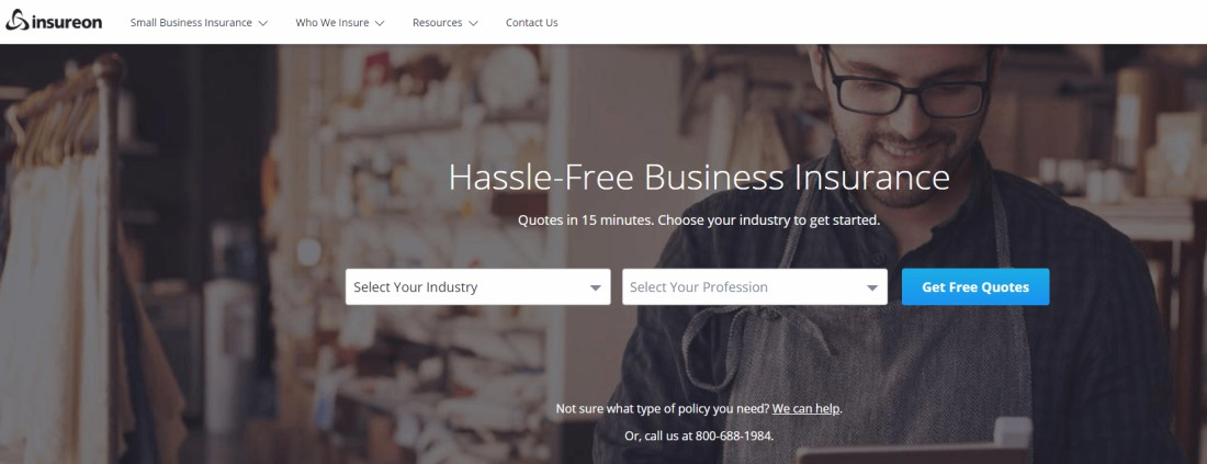Insureon is an online company which offers high-quality insurance services to small business owners
