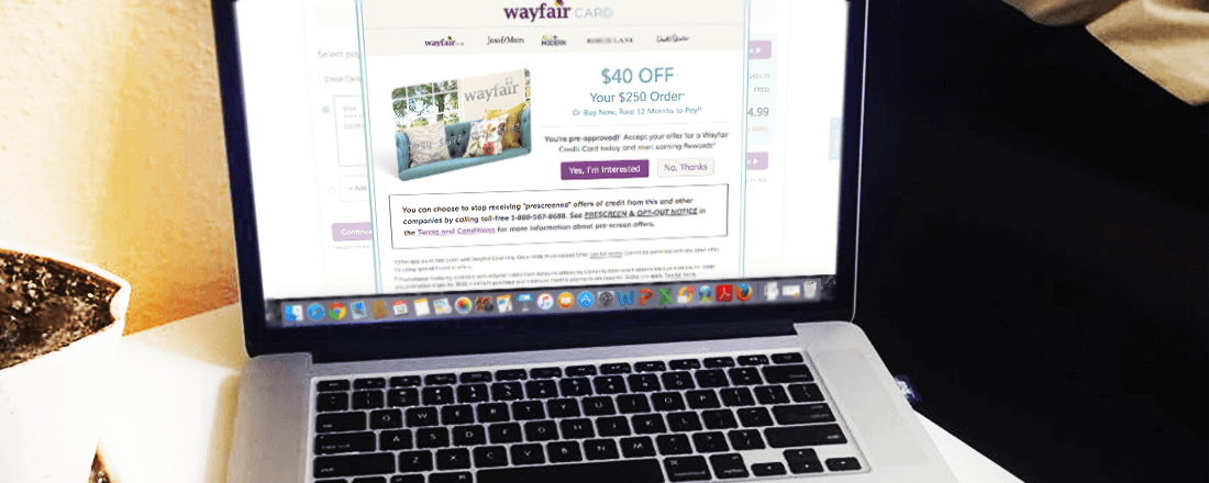 sign up bonus for wayfair credit card