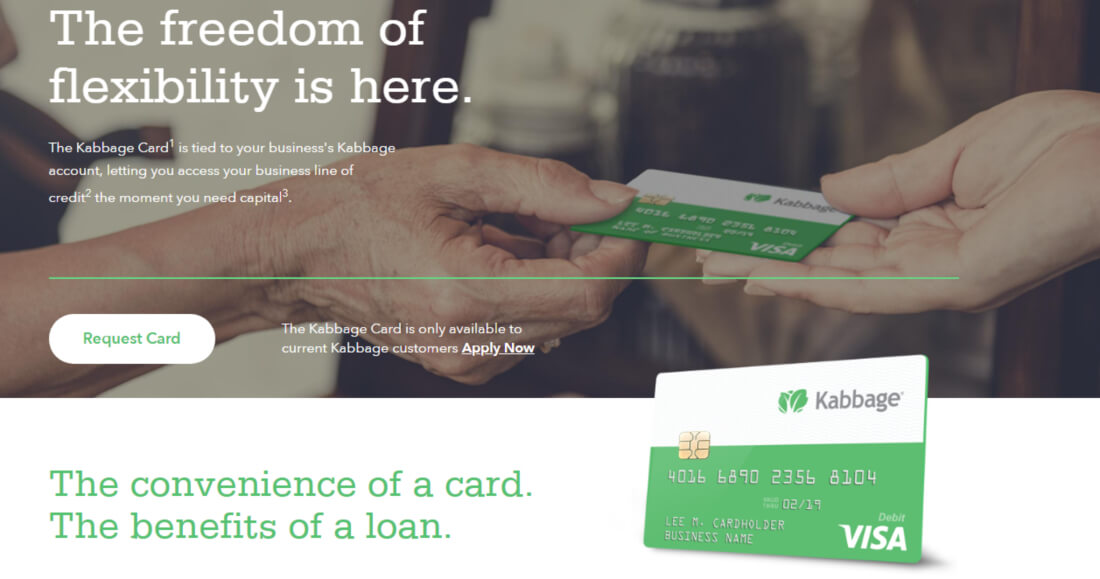 the freedom of flexibility is Cabbage Card
