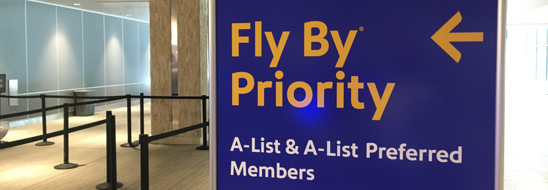 Fly by a priority with SouthWest