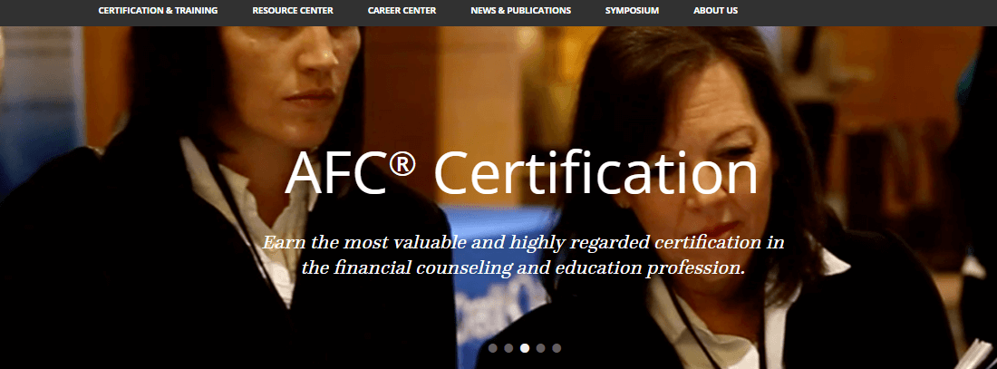 The women are discusing AFC certification