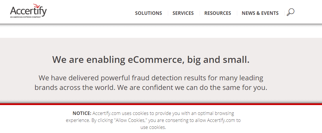 Accertify enables all kinds of e-commerce business