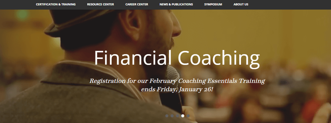 The man is attending AFC financial coaching