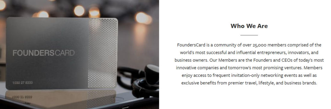 Founders card membership