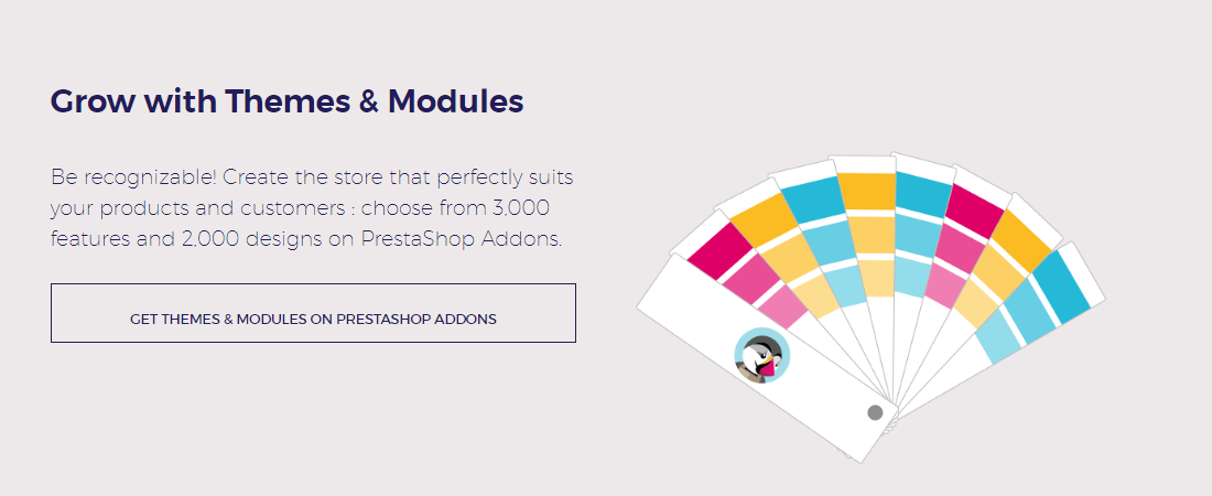 Get more recognizable with Prestashop's themes and plugins