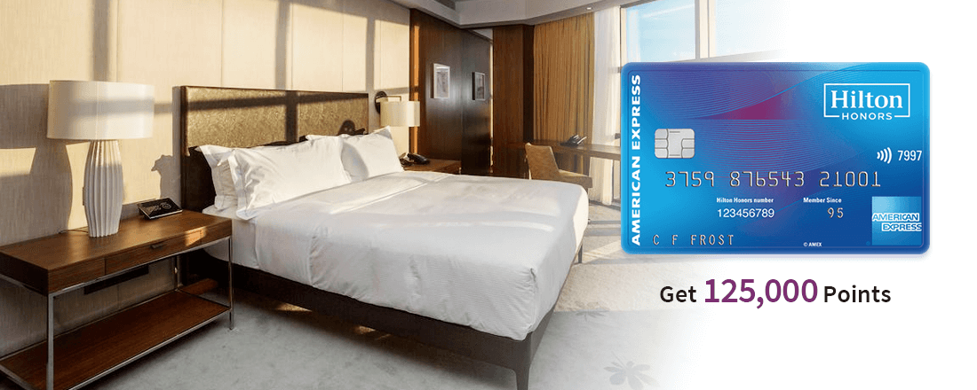 Up to 125,000 Points With Hilton Honors Credit Cards