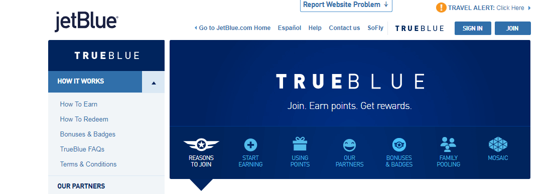 JetBlue TrueBlue Loyalty Program