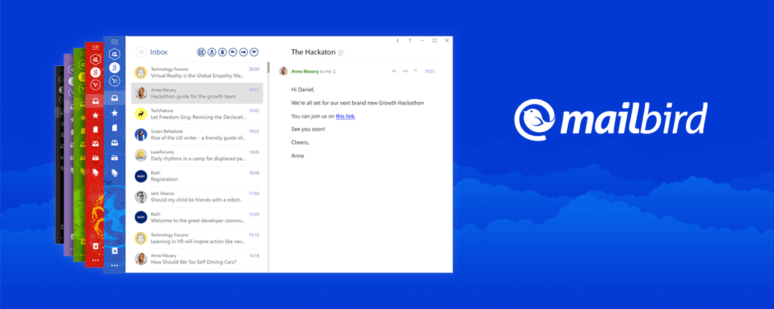Mailbird offers its clients simple and beautiful e-mail client