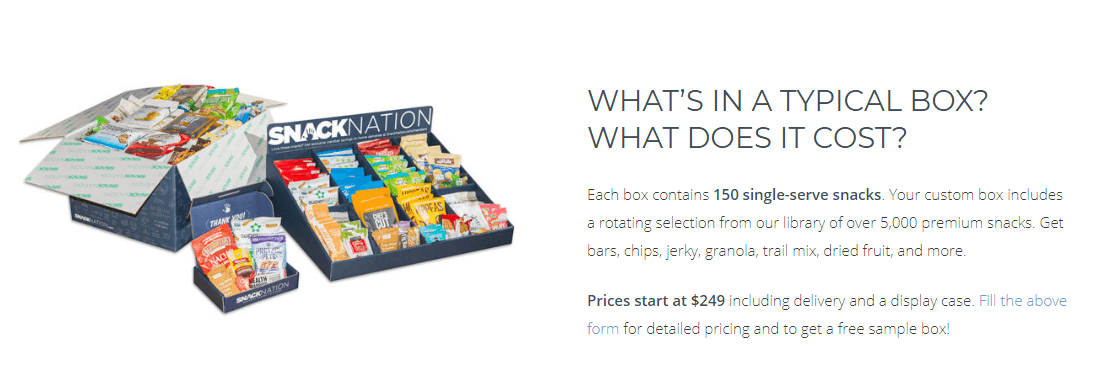 Prices for Snacknation products