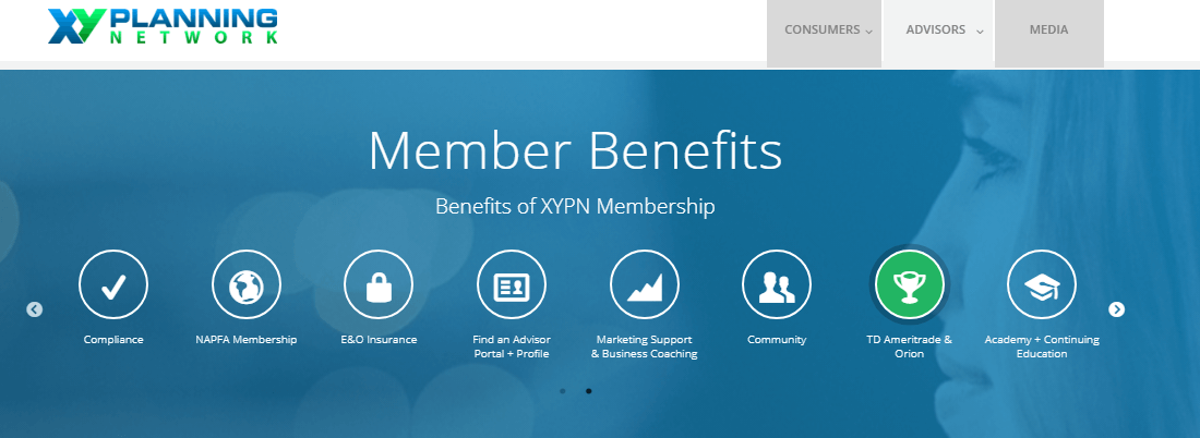 Xy Planning Network benefits that are offered to all the clients