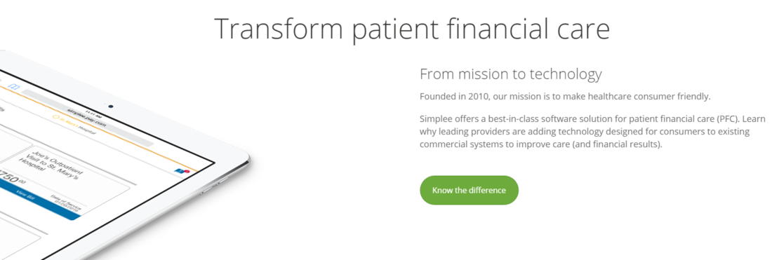 Transforming the patient financial care with Simplee.com