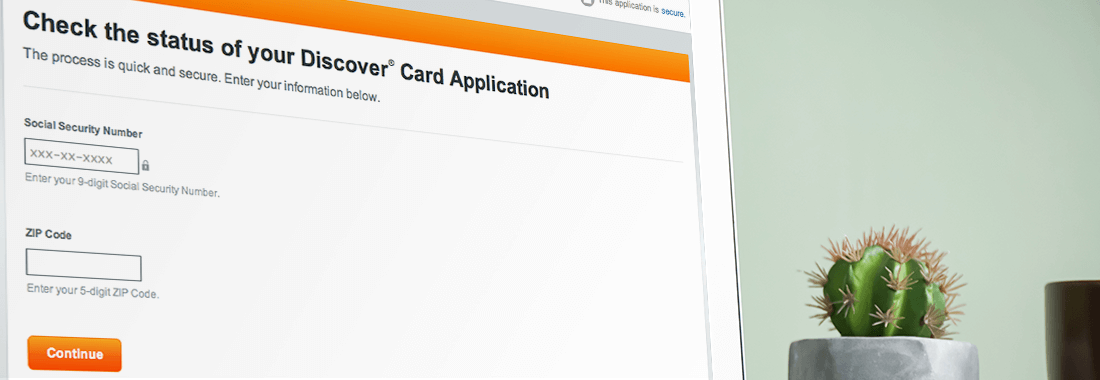 check your discover card application status
