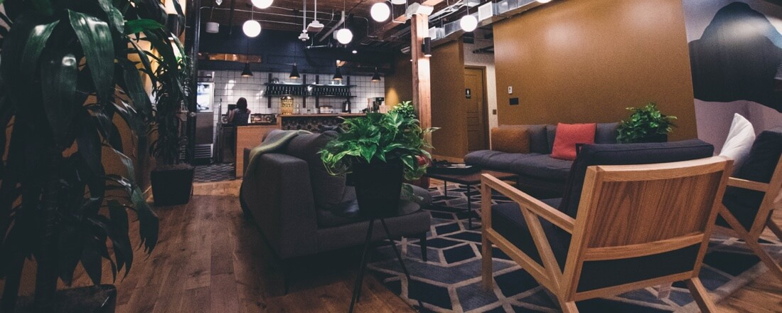 picture shows lounge in dark colors