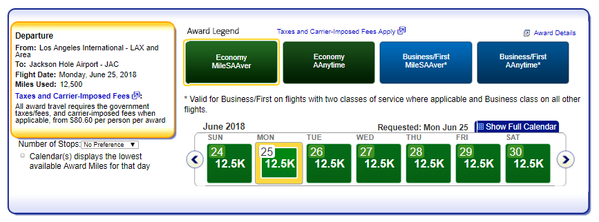 Flights that qualify for AA Reduced Mileage Awards