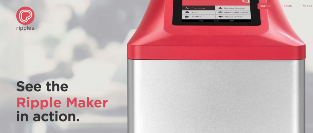 See the ripple maker in action