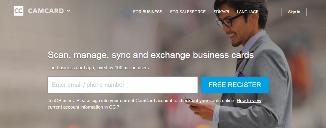 Camcard is an affordable and functional app for busines cards