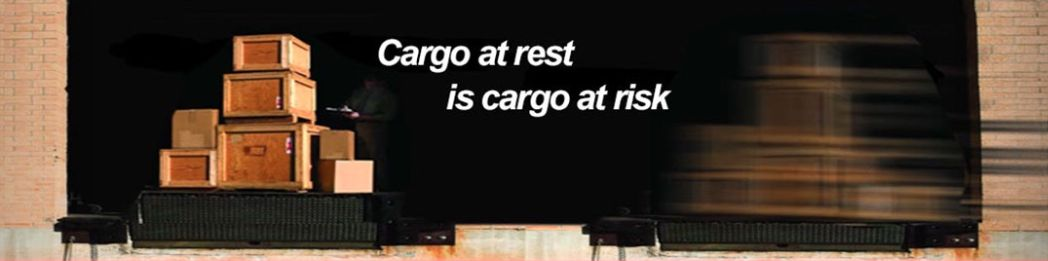 there is text: Cargo at rest is cargo at risk
