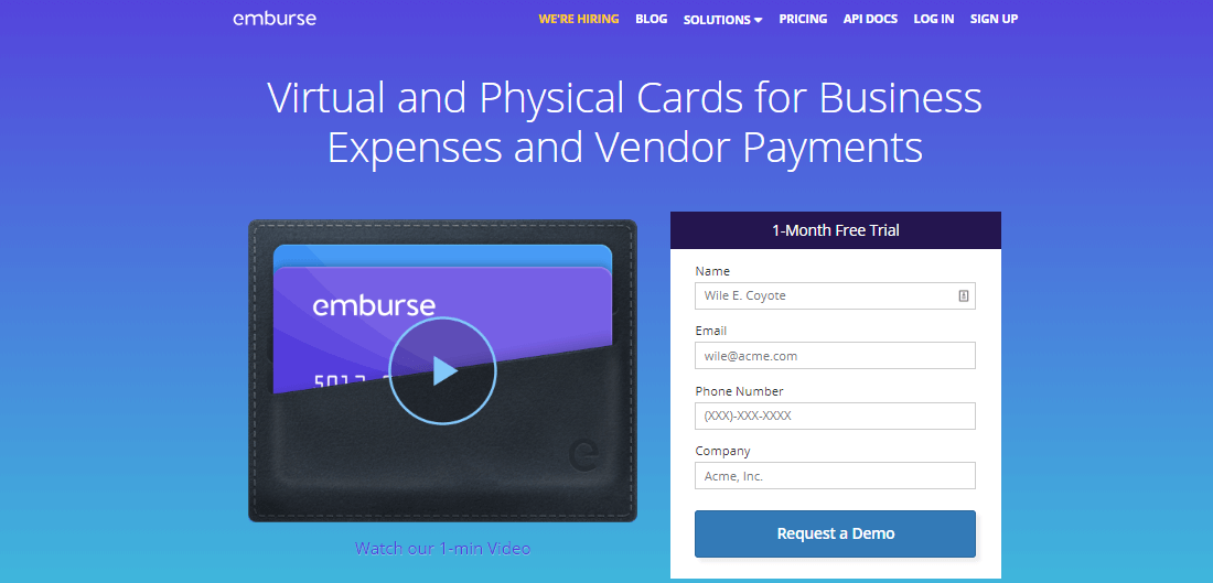 Control your expenses with Emburce platform
