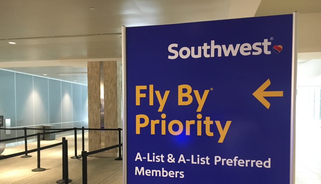 Southwest airlines A list