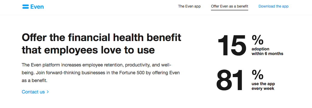 there is a text: Offer the financial health benefit that employees love to use