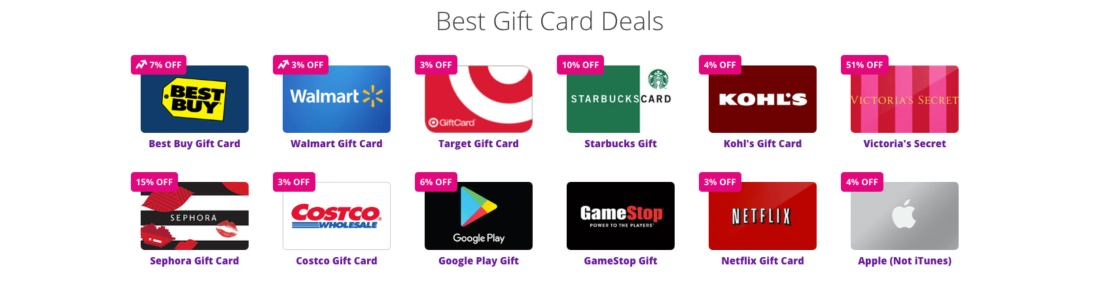 Best Gift Card Deals