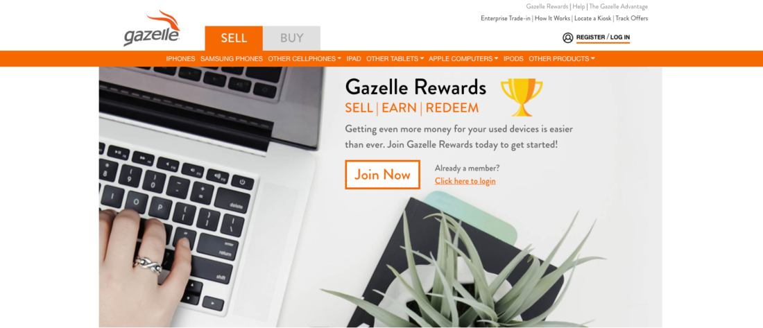 Join Gazelle rewards