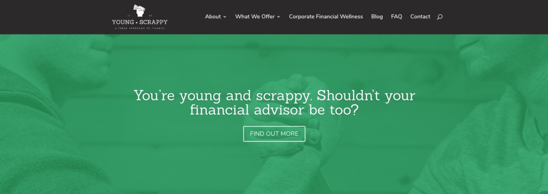 Young and scrappy home page