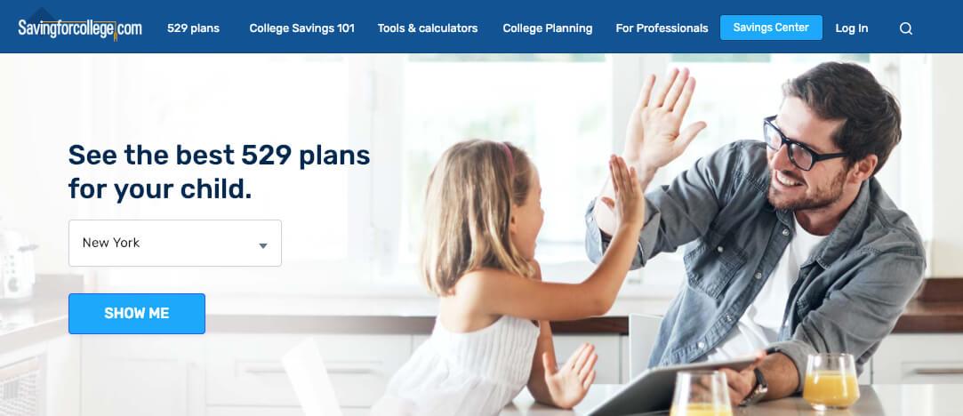 Part of the website SavingForCollege.com