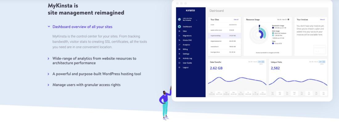 MyKinsta is site management reimagined