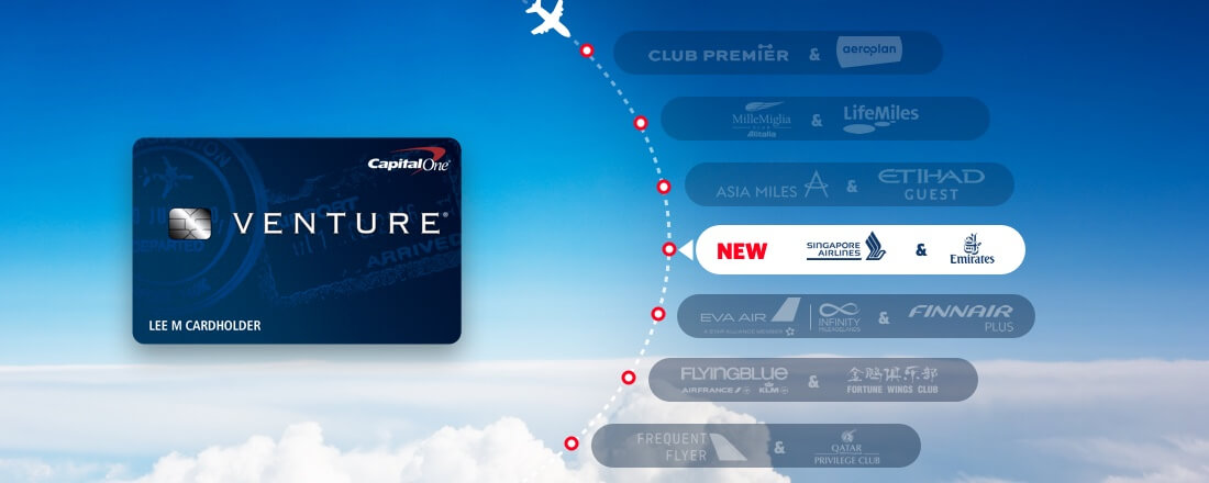 Capital One Venture Card Adds Two Transfer Partners; 14 Total