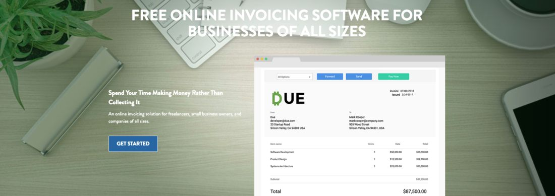 Free online invoicing Software for businesses of all sizes