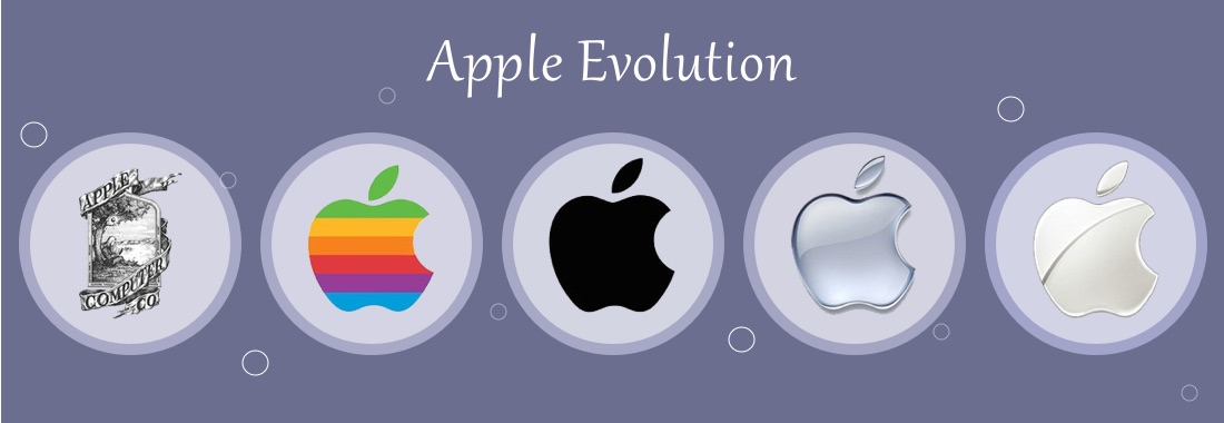 The picture shows a range of Apple's brand-logos