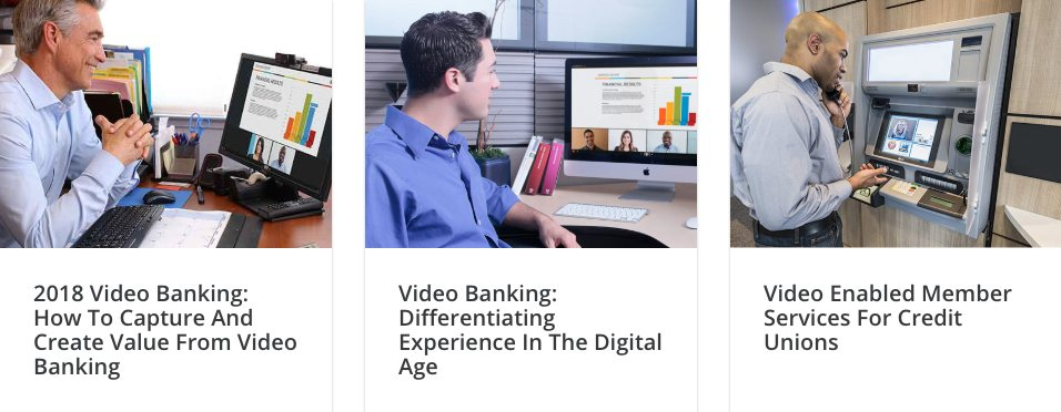 Examples of using Vidyo for video banking and on branches