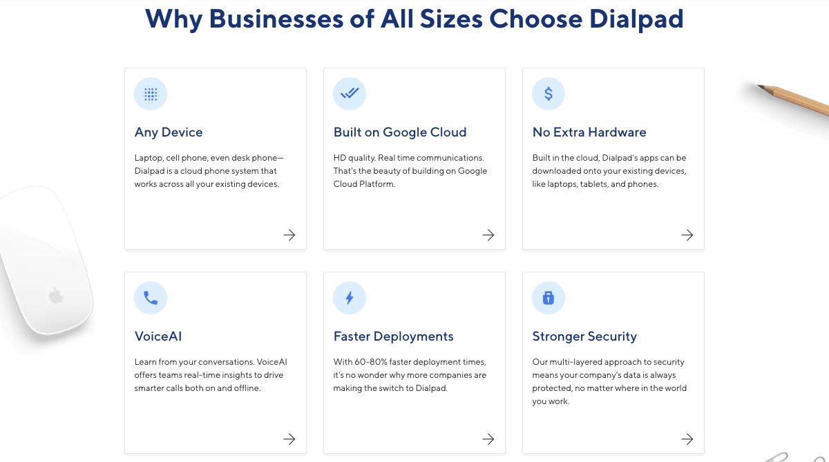 Why businesses choose Dialpad